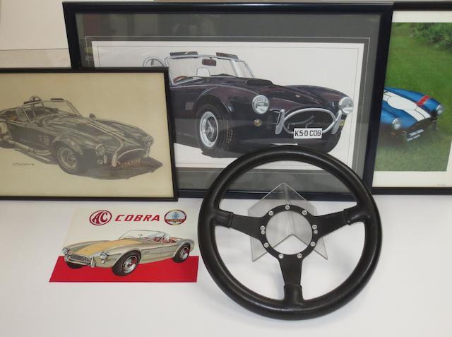 An AC Cobra steering wheel by Moto-Lita,  ((5))