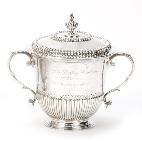 A 1921 BARC Brooklands 75 M.P.H. Long Handicap silver trophy, awarded for 2nd place in an AC car,  ((2))