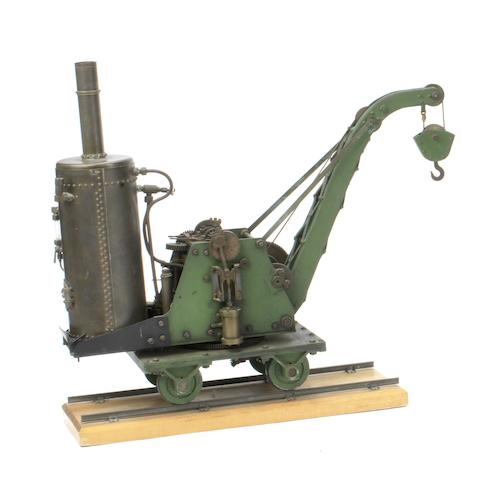 "An engineer's model of a live steam coal-fired ""5 Ton"" railway breakdown crane,"