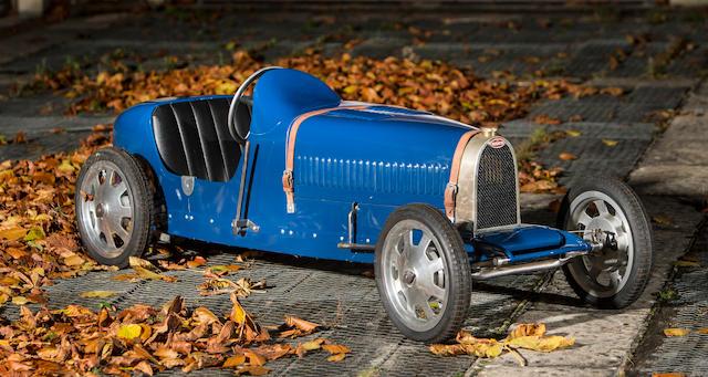 An electrically powered 'Type 52 Baby Bugatti' replica child's car, c. 2002