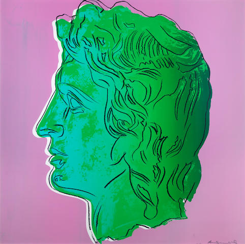 Andy Warhol (American, 1928-1987) Alexander The Great Unique screenprint in colours, 1982, on Lenox Museum Board, signed and numbered TP 7/65 in pencil, one of the unique colour combination trial proofs (there were also eight TP numbered in Roman numerals and the standard edition of 25), printed by Rupert Jasen Smith, New York, published by Alexander Iolas, New York, the full sheet, in good condition Sheet 1015 x 1015mm.