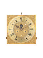 A rare early 18th century brass-inlaid mulberry cased long case clock  The associated movement by Thomas Ogden, Ripponden