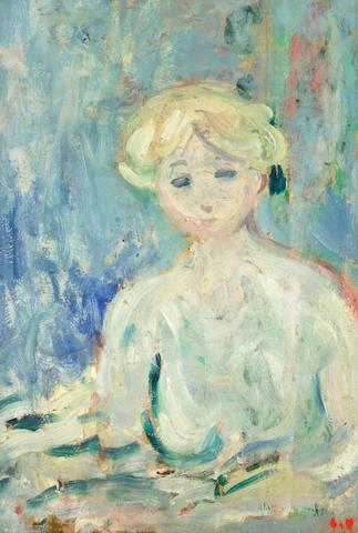 Louis Valtat (1869-1952) 'Jeune fille blonde au noeud de Velours noir' (painted in 1897)