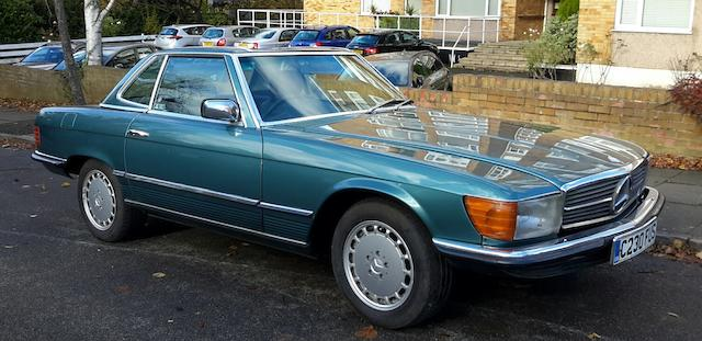 1985 Mercedes-Benz 380 SL Convertible with Hardtop  Chassis no. WDB1070452A033996