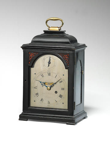 A good mid-18th century quarter repeating ebonised timepiece of small size Justin Vulliamy, London