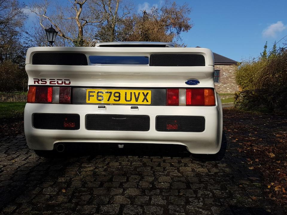 c. 1986 Ford RS200 Group B Rally Coupé  Chassis no. SFACXXBJ2CGL00079