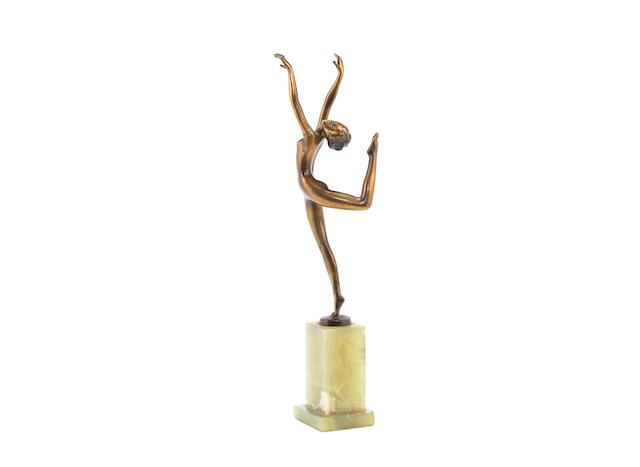 An Art Deco Figure of a Dancing Nude by Josef Lorenzl SIGNED IN CAST 'LORENZL'; CIRCA 1930