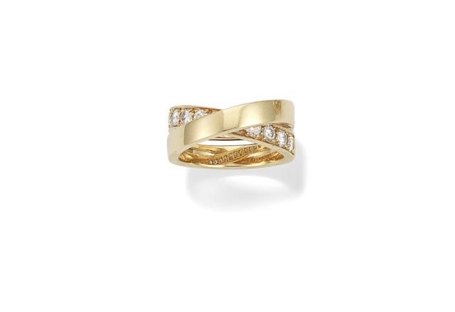 A diamond 'nouvelle vague' ring, by Cartier