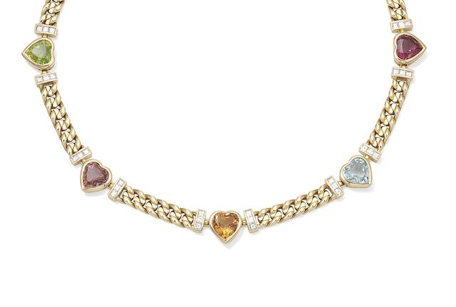 A gem-set necklace, by Bulgari