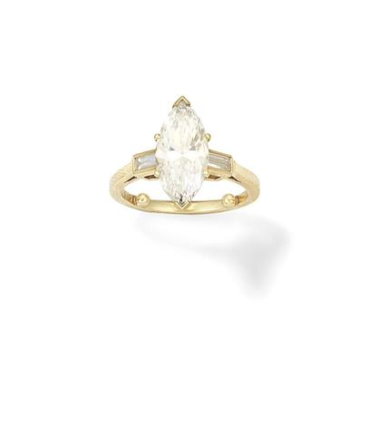 A diamond single-stone ring, 1985