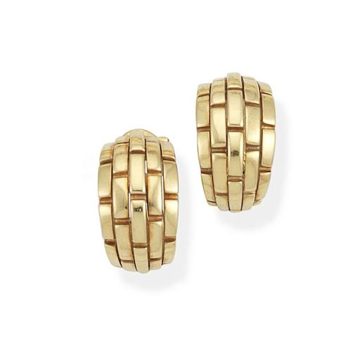 A pair of 'Maillon Panthère' earclips, by Cartier