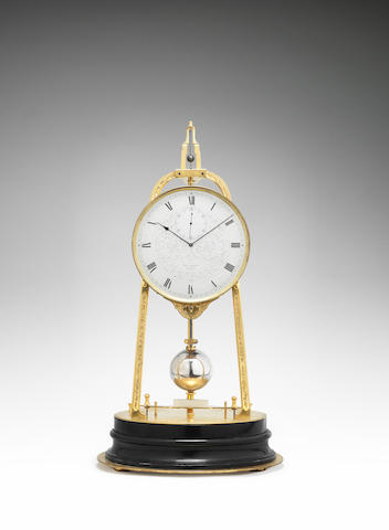 A fine and rare mid 19th century English tripod timepiece Thomas Boxell, Brighton, number 830.