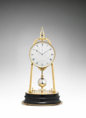 A fine and rare mid 19th century English tripod timepiece Thomas Boxell, Brighton, number 830.
