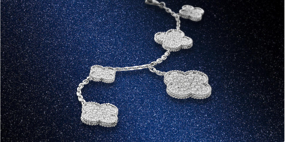 A diamond 'Magic Alhambra' bracelet, by Van Cleef & Arpels