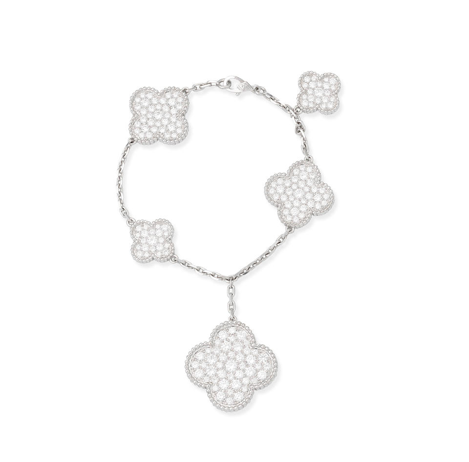 A diamond 'Magic Alhambra' bracelet, by Van Cleef & Arpels