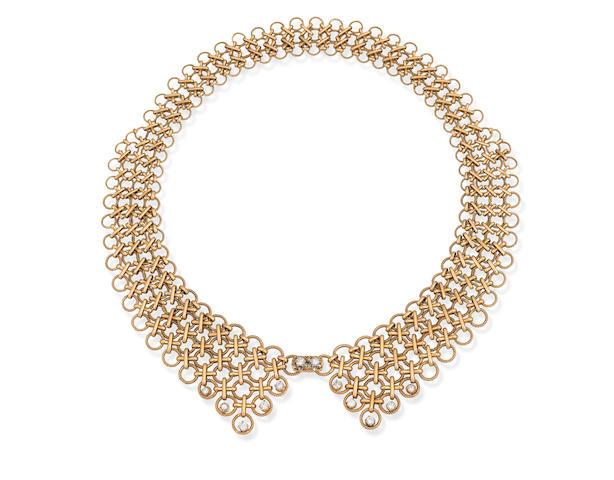 A diamond collar, French, circa 1960