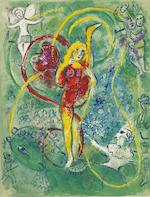 Marc Chagall (Russian/French, 1887-1985) Cirque The portfolio, comprising the complete set of 38 lithographs (23 in colours and 15 in black), 1957, on Arches wove paper, in- and hors-texte, with title page and justification, text in French, signed in pencil on the justification, copy number 39 of 250, published by Tériade Editeur, Paris, the full sheets, loose (as issued), the colours very fresh and vibrant, generally in very good condition, within original paper wrapper with title and cream cloth-covered portfolio with gilt lettering on the spine and matching slipcaseOverall 451 x 343mm.