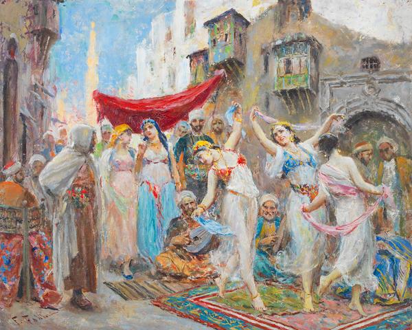 Fabio Fabbi (Italian, 1861-1946) The dancers unframed
