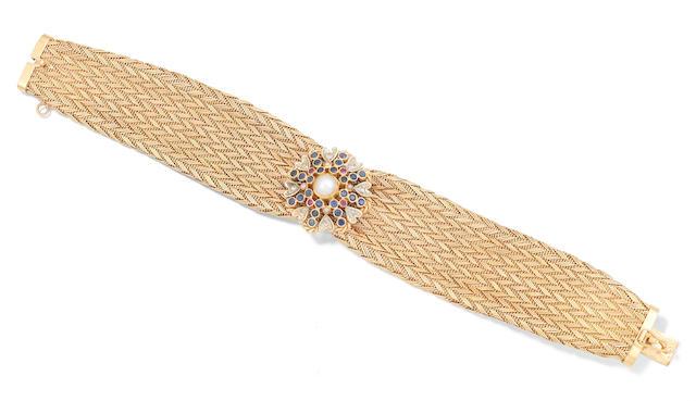 A gem-set bracelet, circa 1960