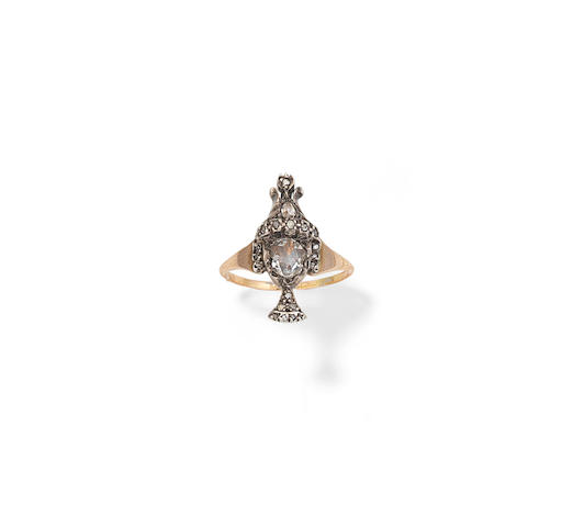 A late 18th century/early 19th century diamond memorial ring
