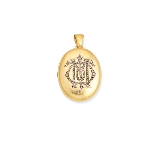 A diamond locket,