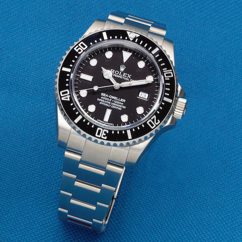 Rolex. A stainless steel automatic calendar bracelet watch  Sea-Dweller, Ref: 116600, Sold 14th May 2014