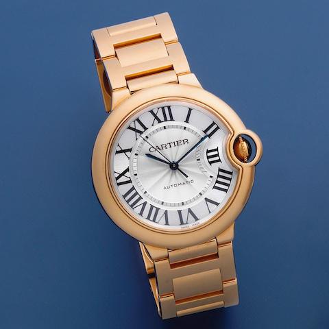 Cartier. An 18K rose gold automatic bracelet watch  Ballon Bleu, Ref: 3003, Circa 2012