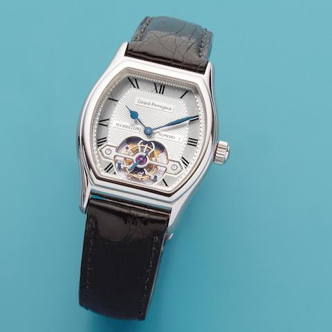 Girard Perregaux. A fine 18K white gold manual wind tourbillon wristwatch  Tourbillon, Ref: 9930, No.1, 1998