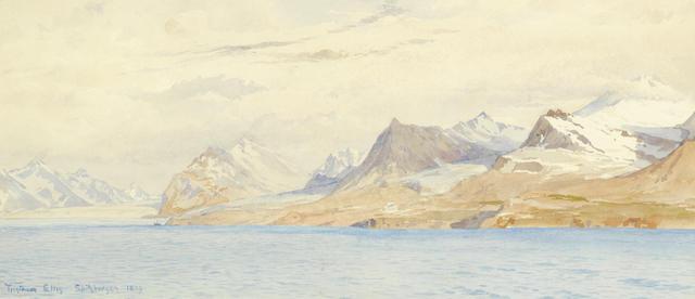 Tristram Ellis (British, 1844-1922) Spitsbergen, a pair each 22.8 x 51.4cm (9 x 20 1/4in). (2)