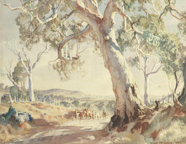 Sir Hans Heysen (Australian/German, 1877-1968) 'A Summer Afternoon'