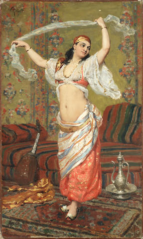 Victor-Gabriel Gilbert (French, 1847-1935) The dancer unframed