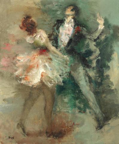 Marcel Dyf (1899-1985) 'Danseurs de music-hall' (painted in 1950 )