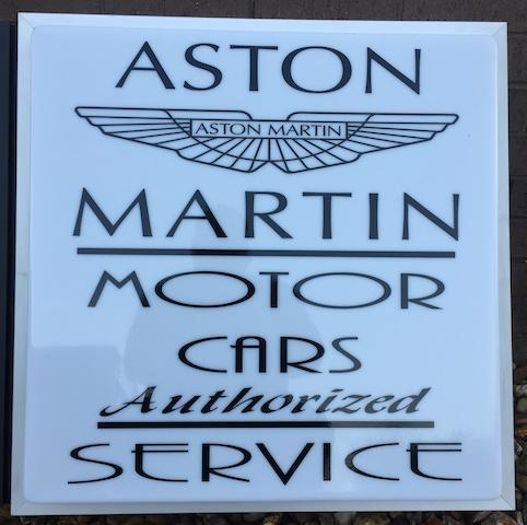 An Aston Martin illuminated light-box advertising sign,
