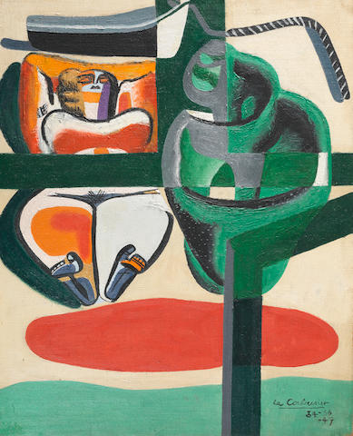 Le Corbusier (Charles-Edouard Jeanneret-Gris) (1887-1965) Baigneuse, barque et coquillage (Painted between 1934 - 1947)