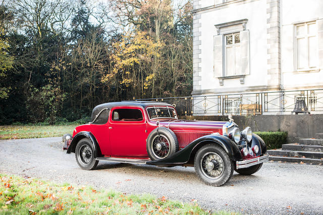 Unique coachwork, rare example of a legendary model,1934 Minerva Type AL 40hp Sports Coupe by Jacques Dens  Chassis no. 80187