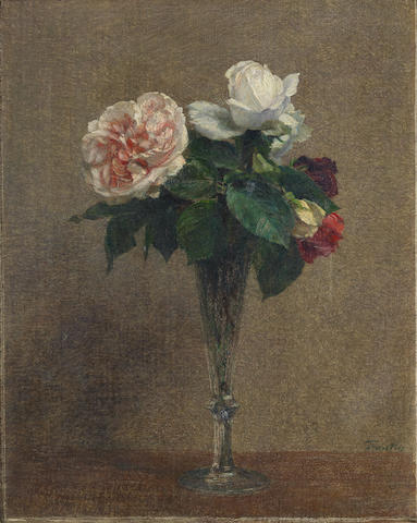 Henri Fantin-Latour (French, 1836-1904) Roses (Painted in 1899)