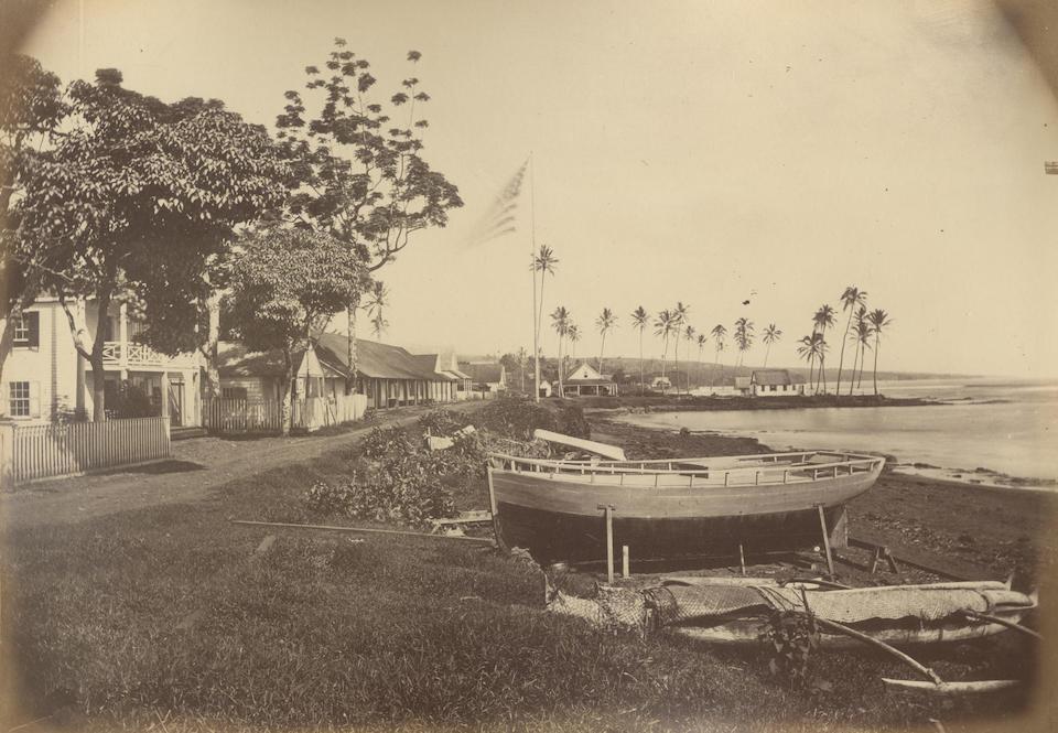 HAWAII Album containing 47 photographs of Hawaiian royalty and scenes, [1874-1877]