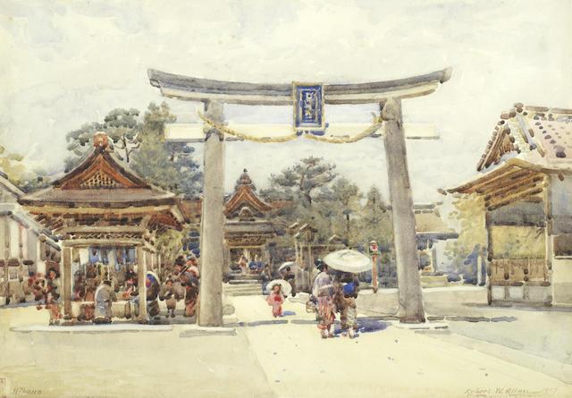 Robert Weir Allan RSA RWS RSW (British, 1852-1942) Hikone, Japan
