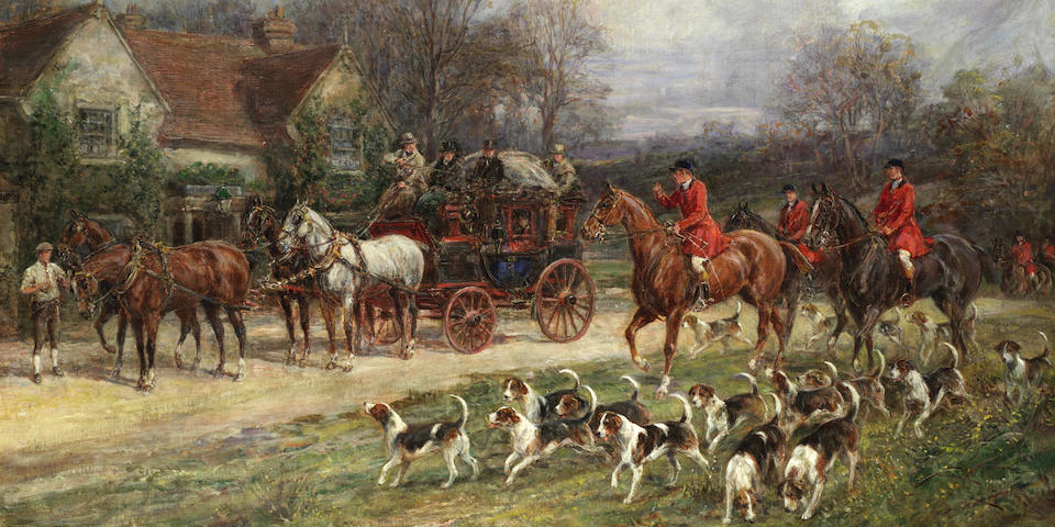 Heywood Hardy (British, 1843-1933) Hunting scene