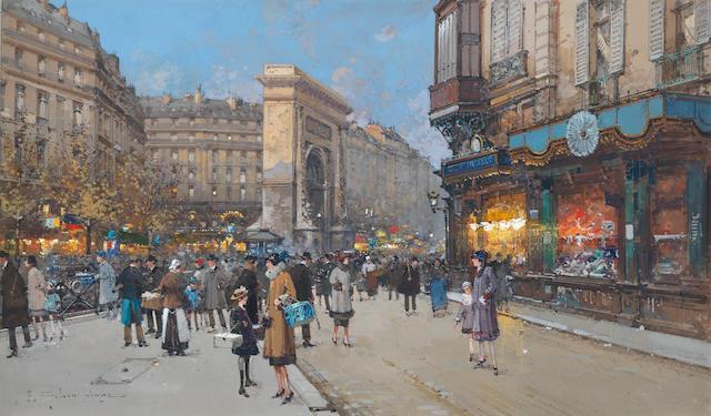 Eugène Galien-Laloue (French, 1854-1941) Porte Saint-Martin, Paris