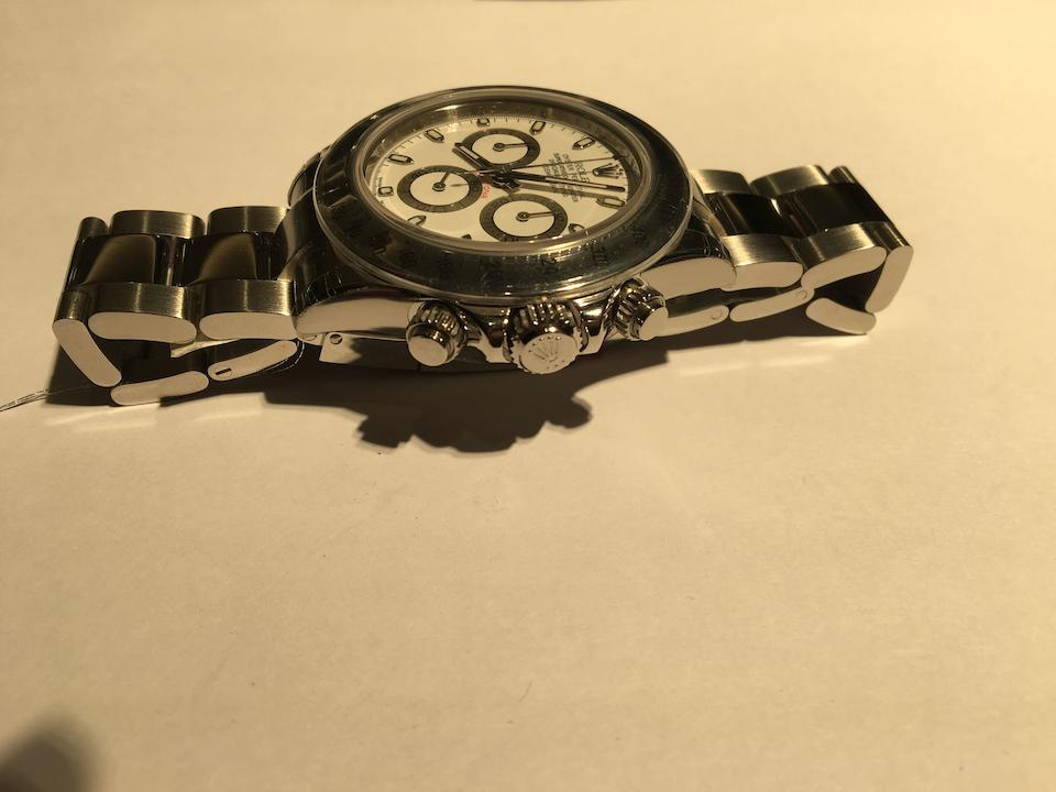 Rolex. A stainless steel automatic chronograph bracelet watch  Daytona, Ref: 116520, Sold 1st December 2007