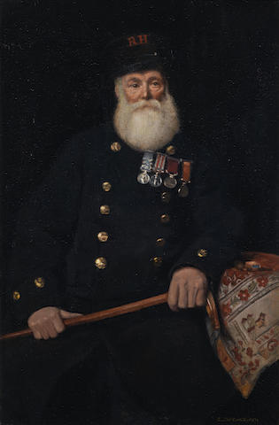 Charles Spencelayh, RMS, HRBSA (British, 1865-1958) The Chelsea Pensioner