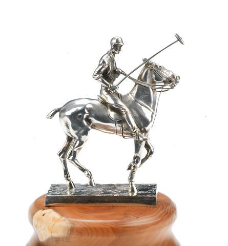 Mascotte « Joueur de polo » par Elkington & Co, Britannique, circa 1910,