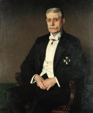 Meredith Frampton (British, 1894-1984) Portrait of Sir Frederick Morris Fry KCVO