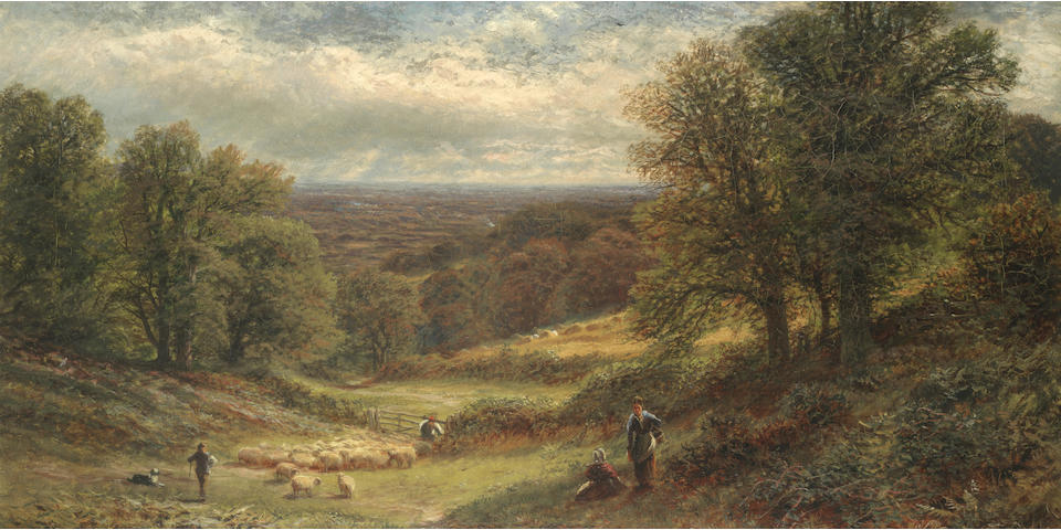 Alfred Augustus Glendening (British, 1840-1921) Near Sevenoaks, Kent, The weald of Kent; a pair 61 x 91.5cm (24 x 36in)(2).