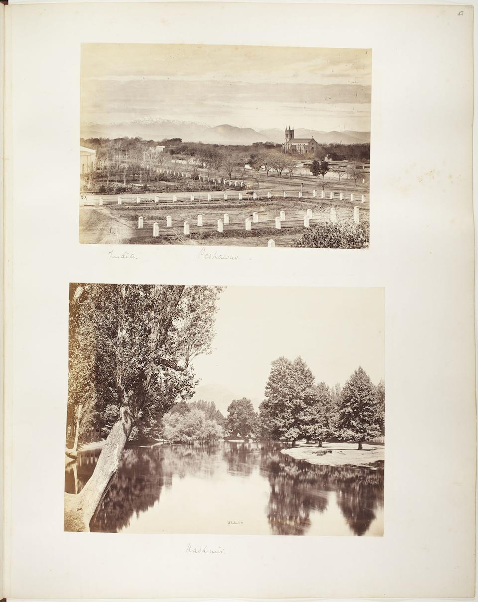[POPE (ARTHUR FREDERICK)] Album containing 108 photographs of California, Singapore, Istanbul, Sri Lanka, China, India, and elsewhere, 1867-1870