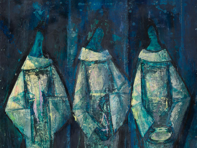 Yusuf Adebayo Cameron Grillo (Nigerian, born 1934) 'Evangelists: Cymbal, Triangle and Tambourine'