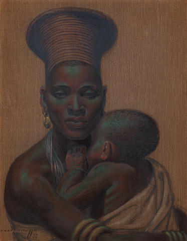 Vladimir Griegorovich Tretchikoff (South African, 1913-2006) African Madonna