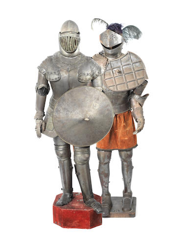 Two suits of late 19th / early 20th century Continental steel plate armour  in the Medieval style (2)