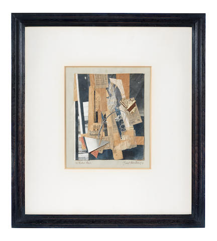Kurt Schwitters (1887-1948) Für Herbert Read. 21 x 17cm (8 1/4 x 6 11/16in) (image size); 24.3 x 20.3cm (9 9/16 x 8in) (sheet size) (Executed in England  in 1944)